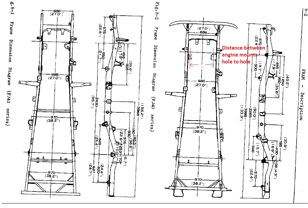 measurement need early fj40 chassis