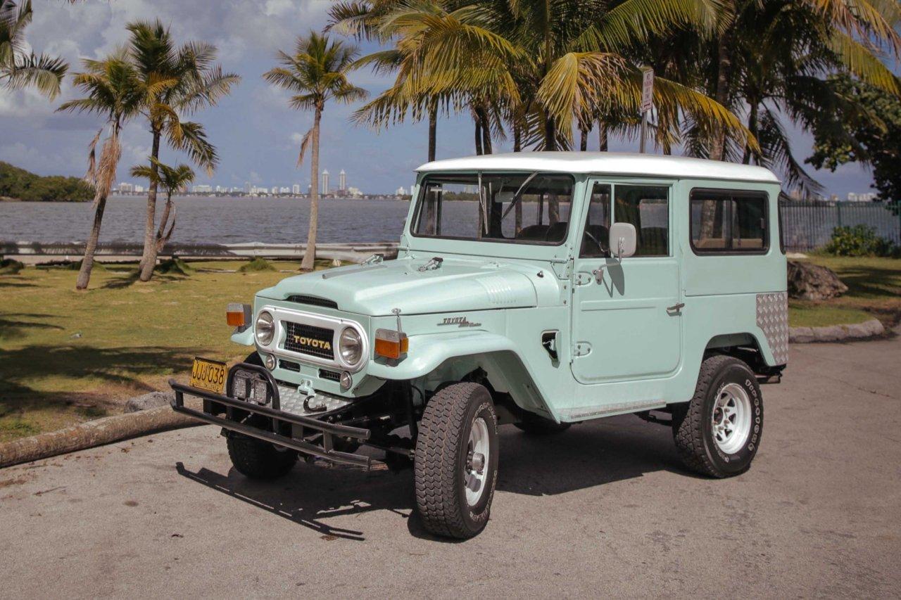 for sale 1968 toyota land cruiser fj40 4 speed sea foam green in miami florida usa ih8mud. Black Bedroom Furniture Sets. Home Design Ideas