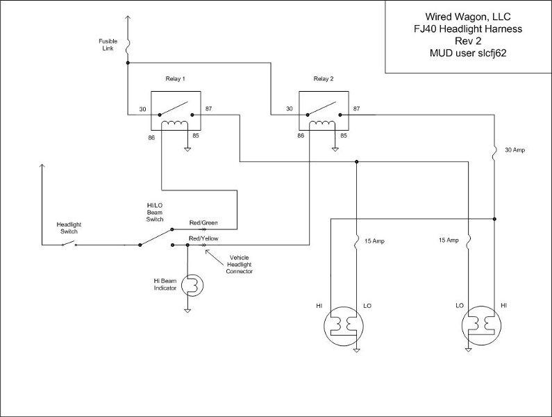 Headlight Wire Harness Fj60 And Fj62