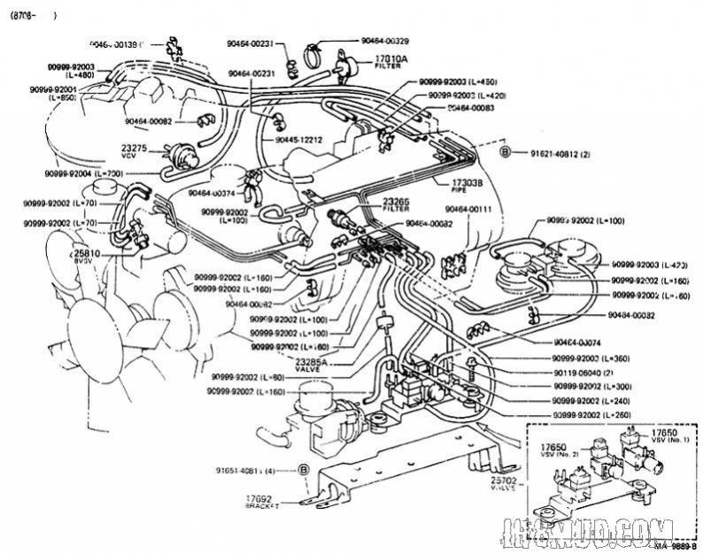heater hose diagram for a 1986 toyota pickup  heater  get