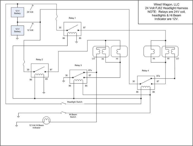 Fj62 2h Diesel Swap Done  Need Basic Headlight Info Plz