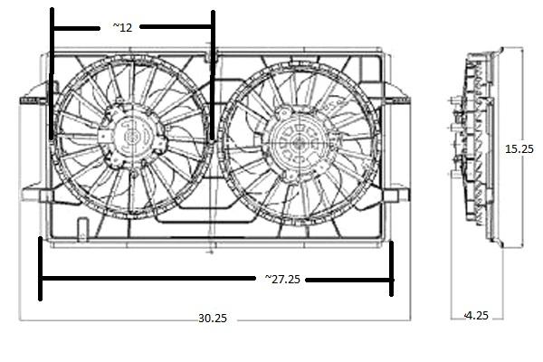Malibu Radiator Electric Fan Swap