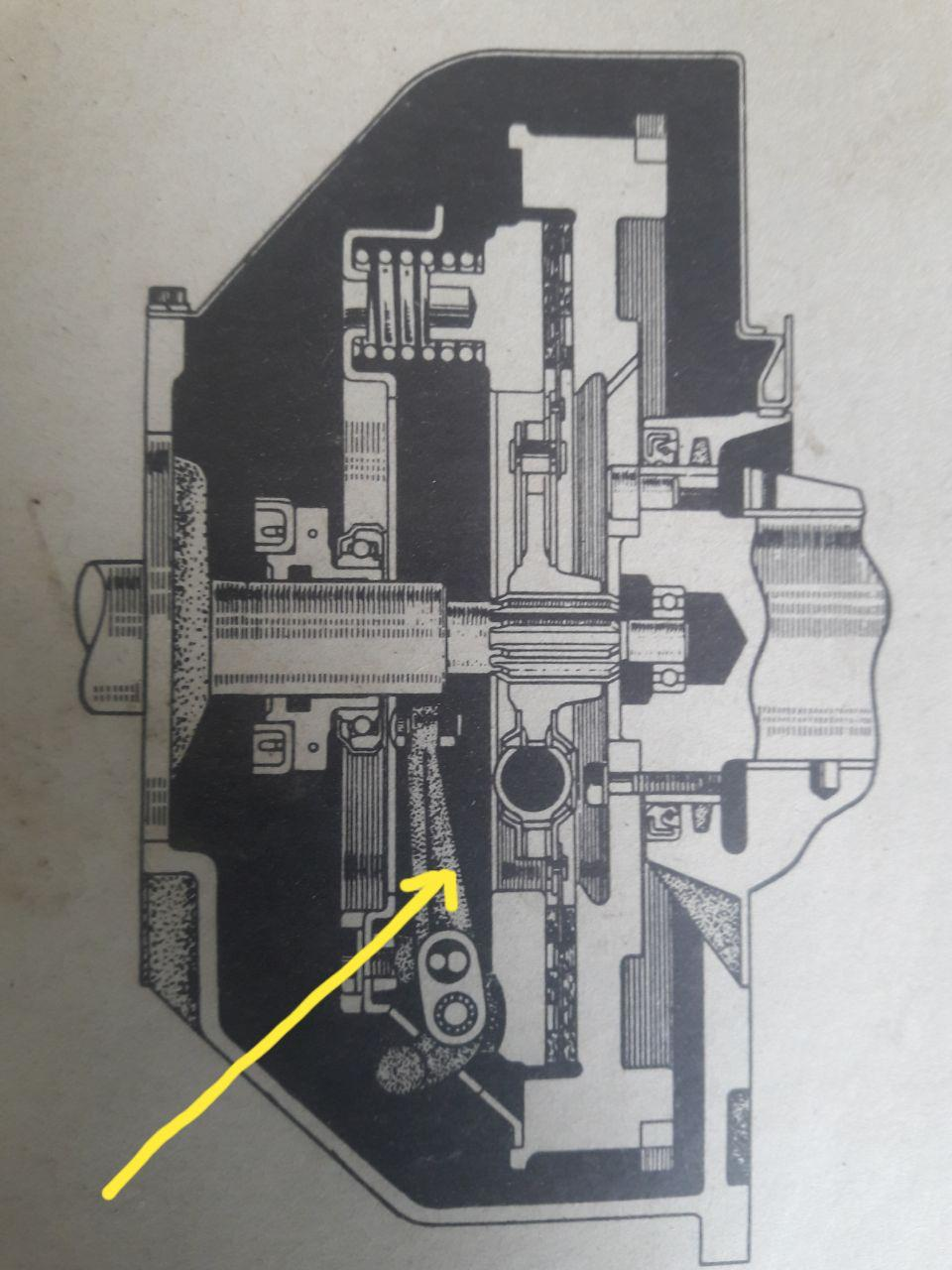 Haynes manual: cross section of clutch and release lever.jpg