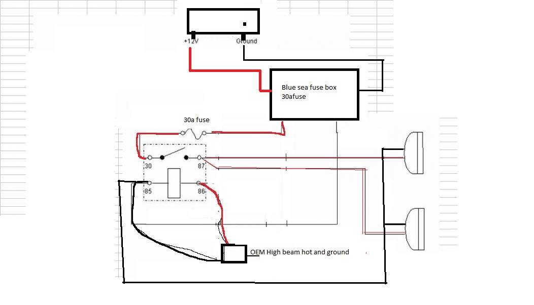 Need help with connecting driving lights to high-beams | IH8MUD Forum