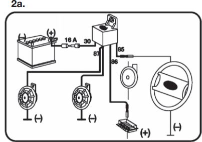 Hella Twin Supertone Horns on 5 pin relay wiring diagram