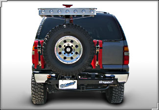 There's ford excursion swinging spare tire carrier