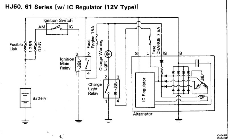 82 Toyotum Alternator Wiring Diagram