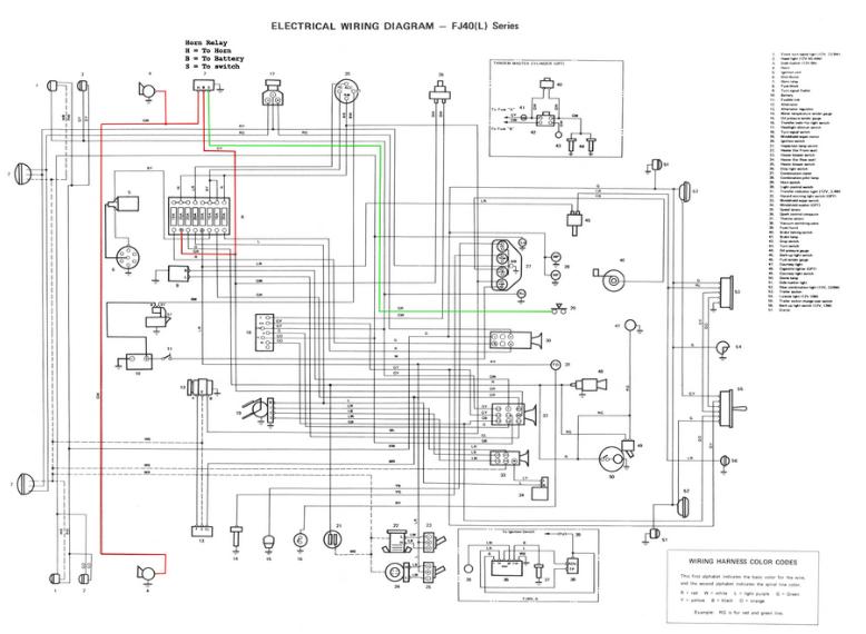 toyota pickup horn wiring diagram