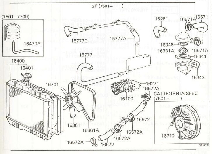 engine compartment heater hose diagram