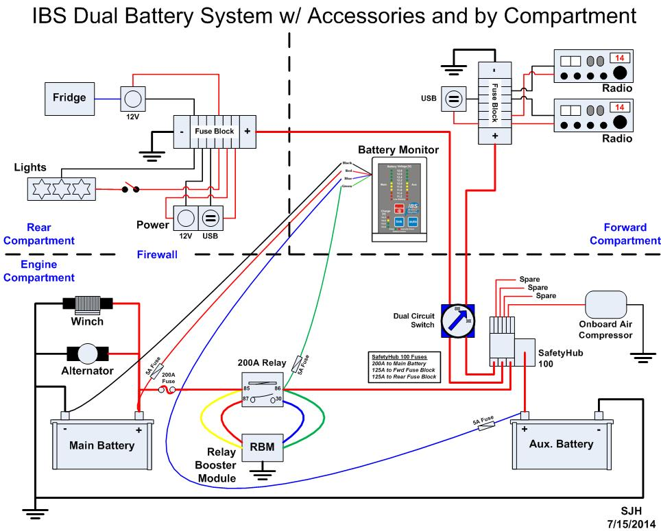 Another Dual Battery And Power Distribution System Ih8mud Forumrhforumih8mud: Battery Wiring Diagram Besides Dual On At Gmaili.net