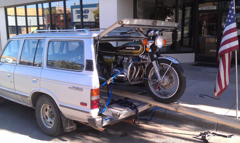I Loaded The Bike On Main Street Of Rawlings Wyoming After A Motorcycle Ride Through Yellowstone And Teton National Parks Gotta Love Those 60s