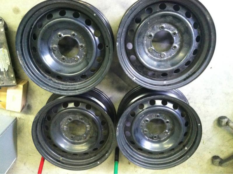For Sale 4 Fj Cruiser Black Steel Wheels Ih8mud Forum