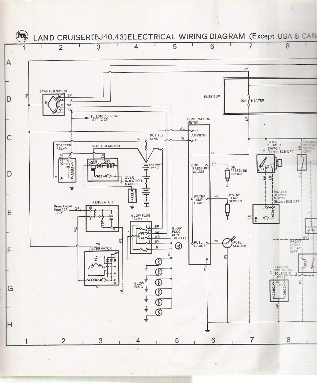 Where can I find a Wiring Schematic for a BJ40 Diesel? | IH8MUD Forum