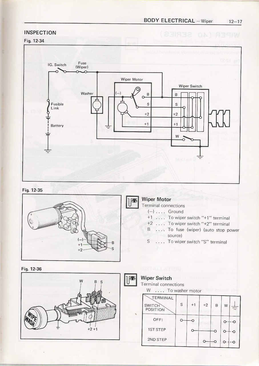 wiring gurus  wiper wiring