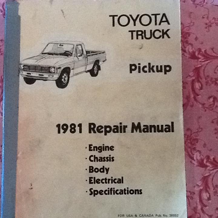 for sale 1981 toyota truck pickup repair manual ih8mud forum rh forum ih8mud com 1992 toyota truck repair manual 1984 toyota truck repair manual