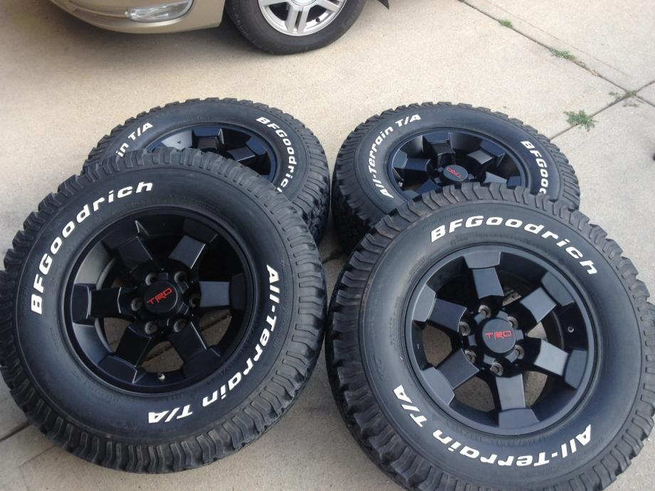 For Sale 5 Trd 16 Quot Black Fj Wheels And Tires Ih8mud Forum