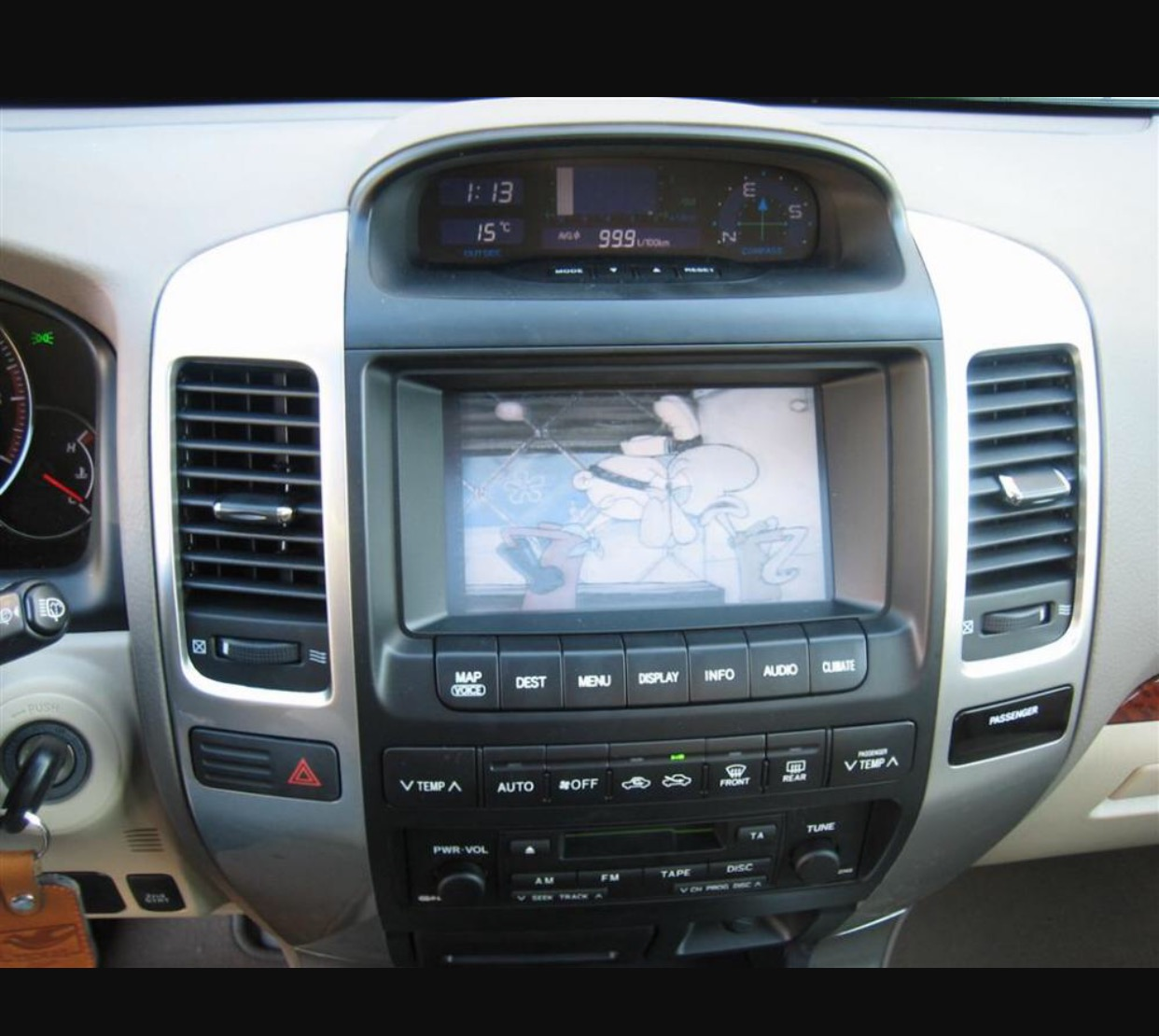 Replacing Oem Nav With Non Climate Controls And Aftermarket 2005 Lexus Land Cruiser Imagejpeg