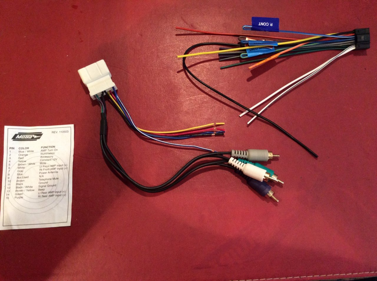 Kenwood 16 Pin Head Unit Replacement Wiring Harness