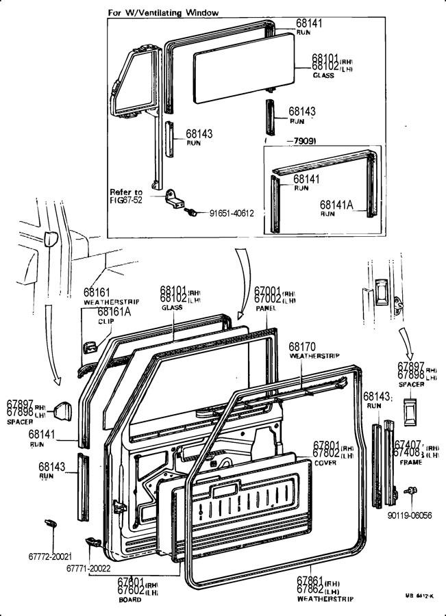 fj40 rear hatch parts diagram