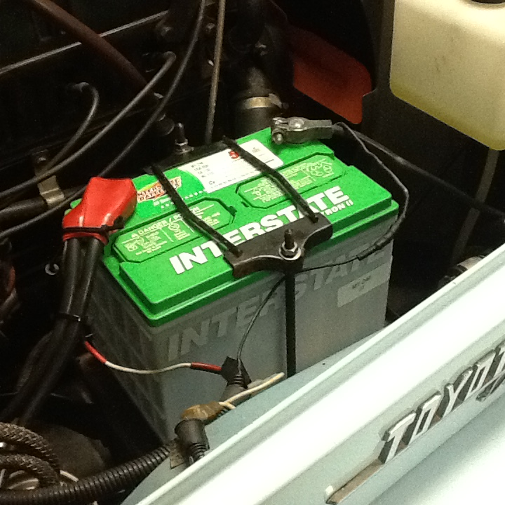 JCPenney Lifetime Battery In My 72 FJ40