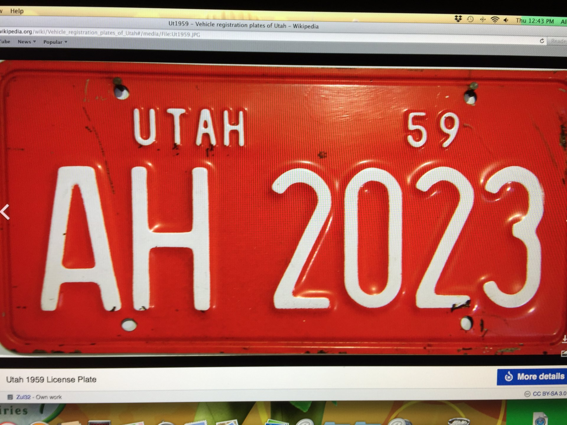 Im Looking Two License Plates From The Great State Of Utah I Would Like A Blue 1940 Or Red 56 59like Thesein Similar Condition Little