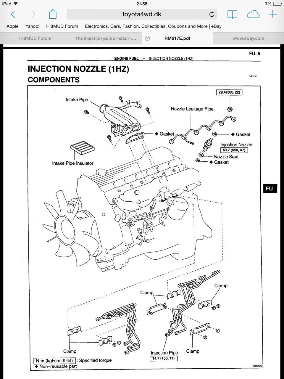 1hz Injection Pump  Firing Order
