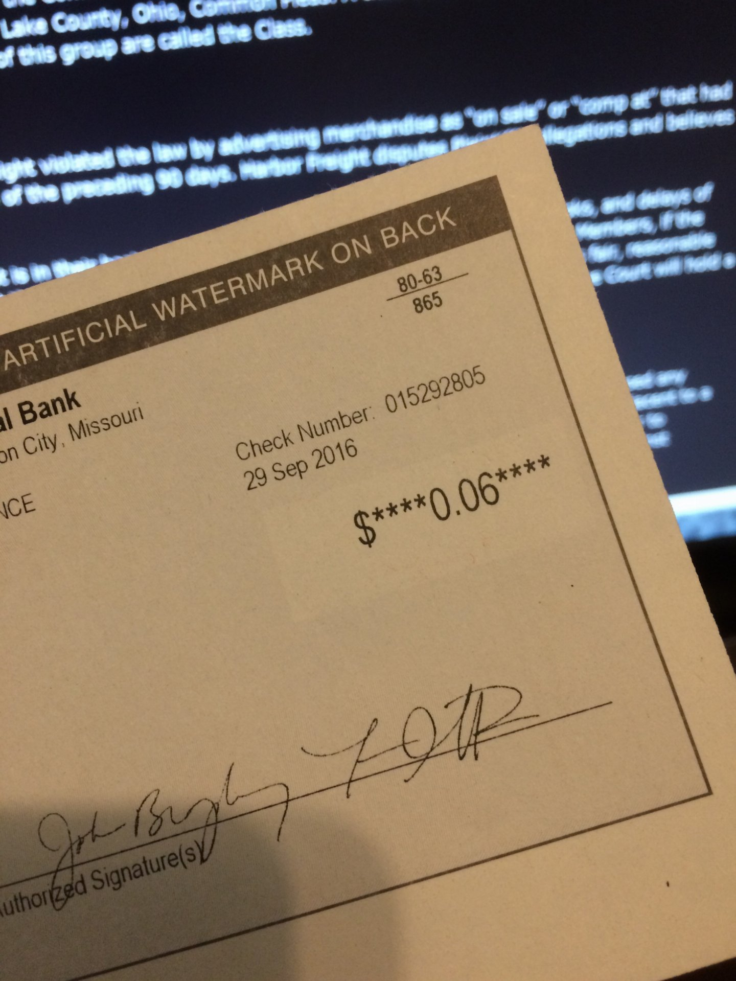 Harbor Freight Class Action Settlement | IH8MUD Forum