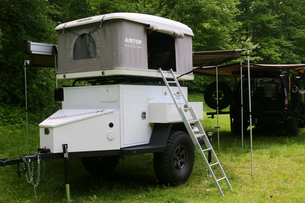 SALE PENDING (SOLD) Trailer with tent ... & For Sale - Turtleback Trailer and Airtop Tent  Fairfax Va ...