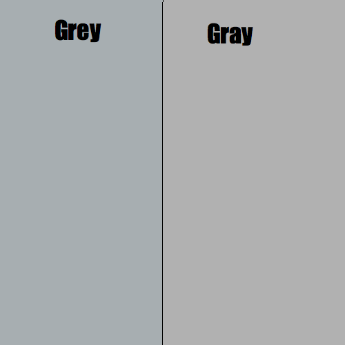 grey vs gray color What color gray on steelies? | Page 2 | IH8MUD Forum grey vs gray color