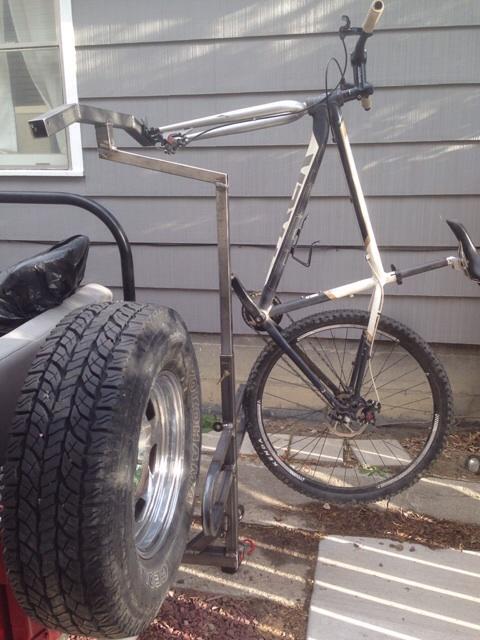 Home Made Hitch Mount Fork Clamp Bike Rack Ih8mud Forum