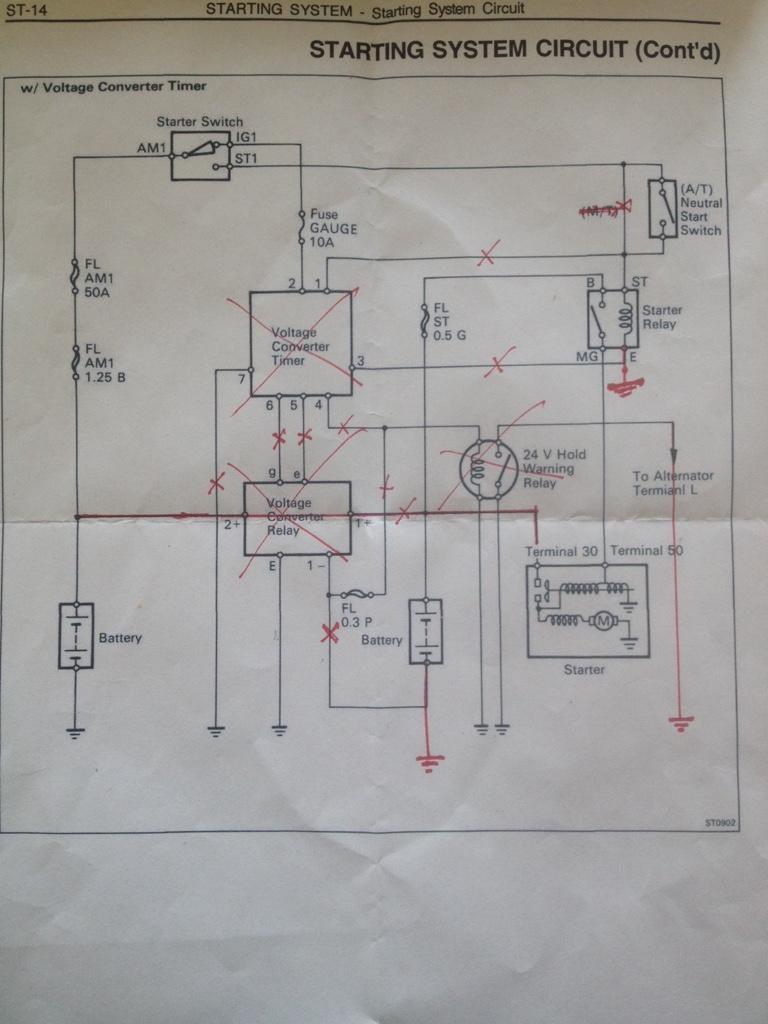24v Starter Conversion To 12v Hdj81 Ih8mud Forum Solenoid Wiring Diagram Imageuploadedbytapatalk1436643989458150