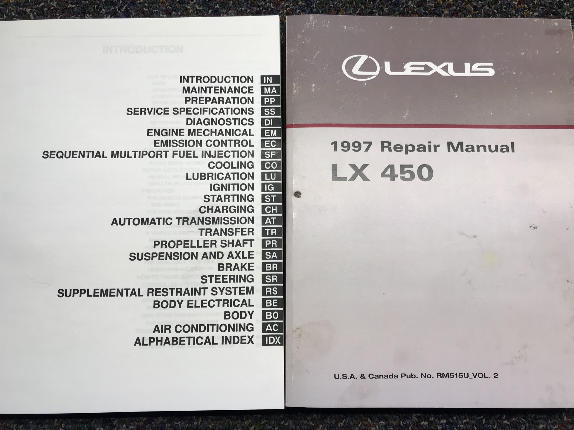 LX 450 FSM and the REPAIR GUIDES (how many volumes)?   IH8MUD ForumIH8MUD Forum
