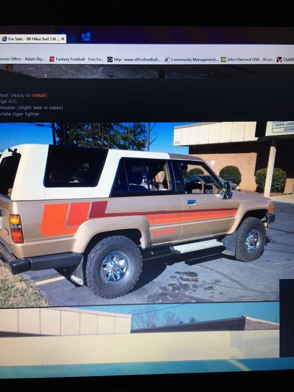 For Sale - 1988 Toyota Hilux Surf Import $15,500 | IH8MUD Forum