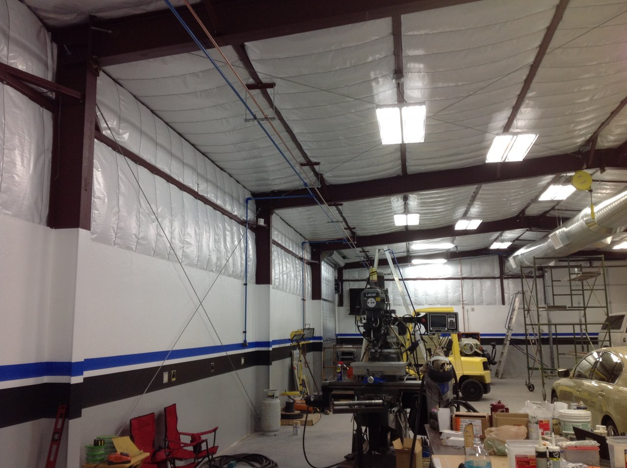 Piping Compressed Air Throughout Garage Which Piping