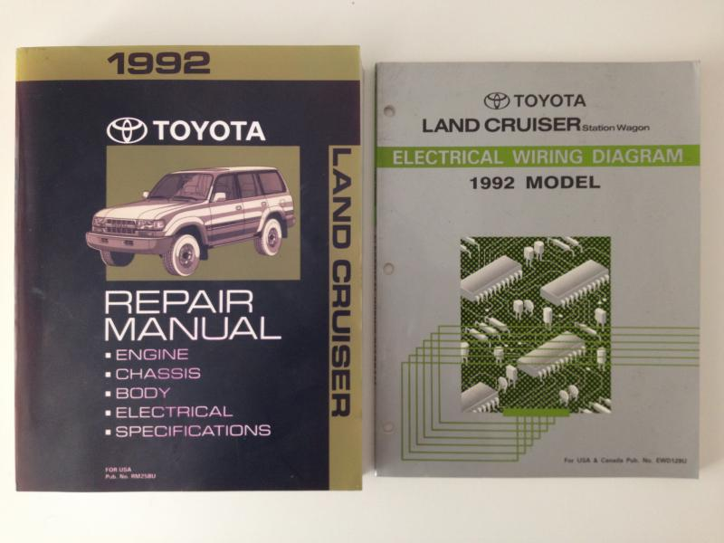 1992 Toyota Fj80 Factory Service Manual Fsm And Electrical Wiring Diagram Ih8mud Forum