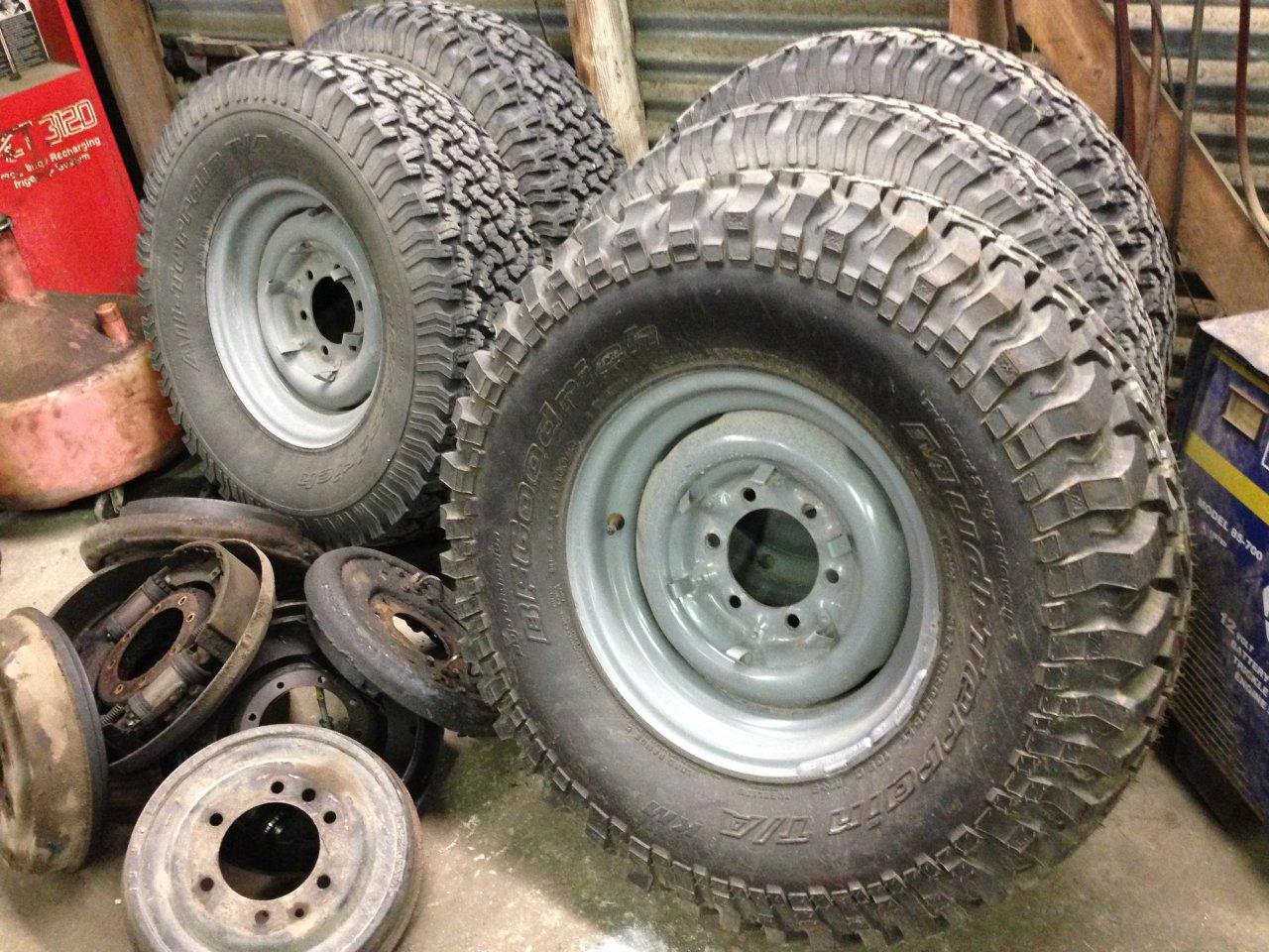 5 Fj40 Oem Steel Rims And Bfg Tires Houston Ih8mud Forum