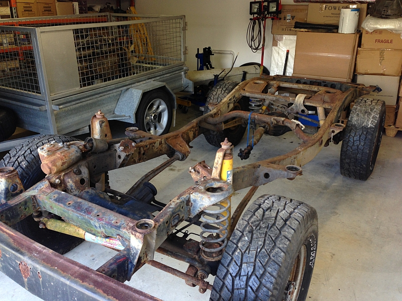 70 series chassis under FJ40 body? | IH8MUD Forum