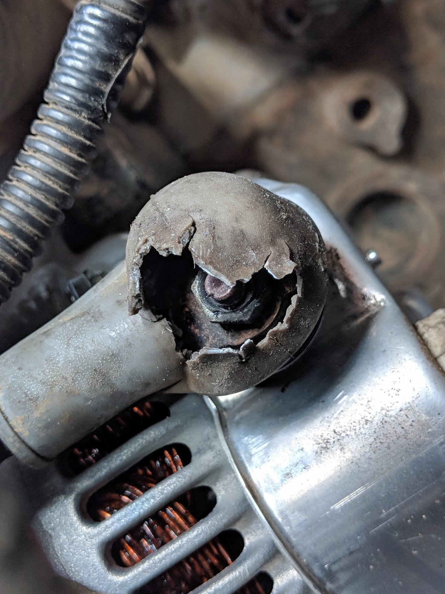 Alternator melted rubber terminal boot? | IH8MUD Forum