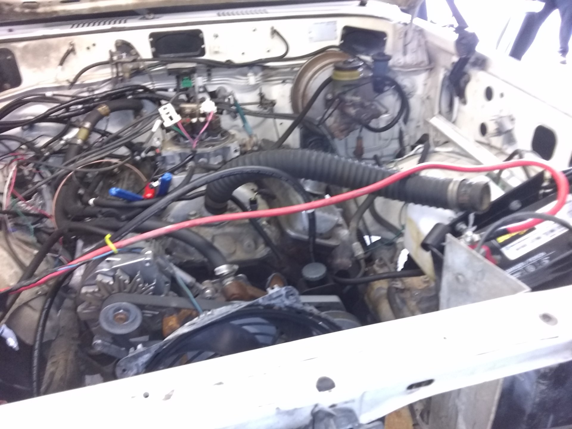 1987 60 getting her tbi wiring harness installed | IH8MUD Forum Tbi Wiring Harness Conversion on 4.3 tbi wiring harness, tbi ignition coil circuit diagram, tbi harness diagram,