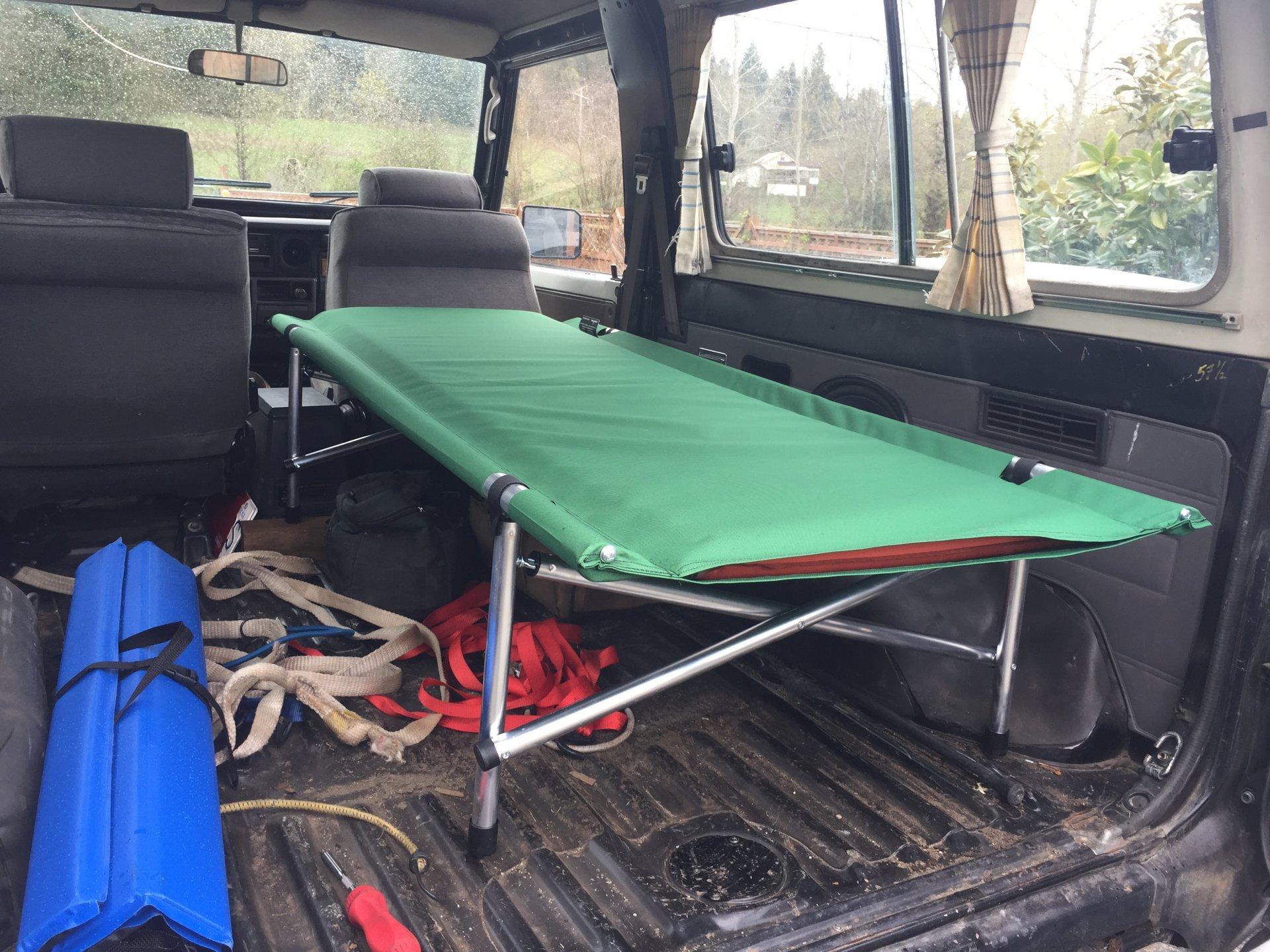 Sleeping In The Truck Camping Cot Ih8mud Forum