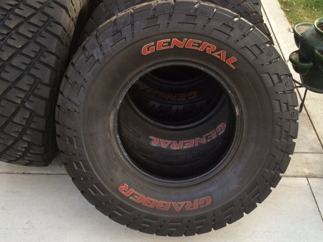 general grabber red letter for letter general grabber tires set of 6 674