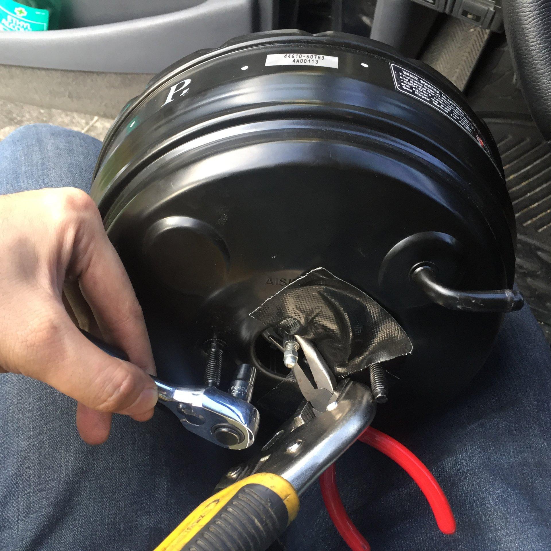 brake booster push rod too short