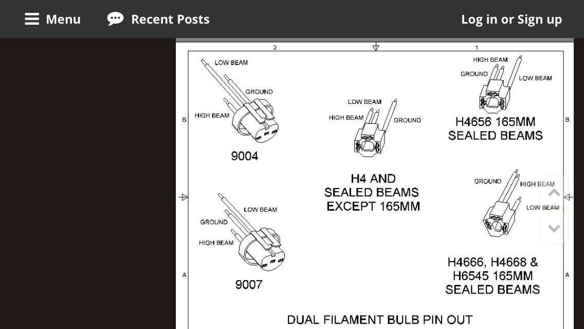 sealed beam to h4 wiring modification ih8mud forum high beam low beam wiring diagram sealed beam wiring diagram wiring diagram
