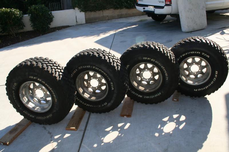 Used Tires Visalia Ca >> For Sale - set of 4 BFG-MT 33x12:50x15 w/wheels   IH8MUD Forum
