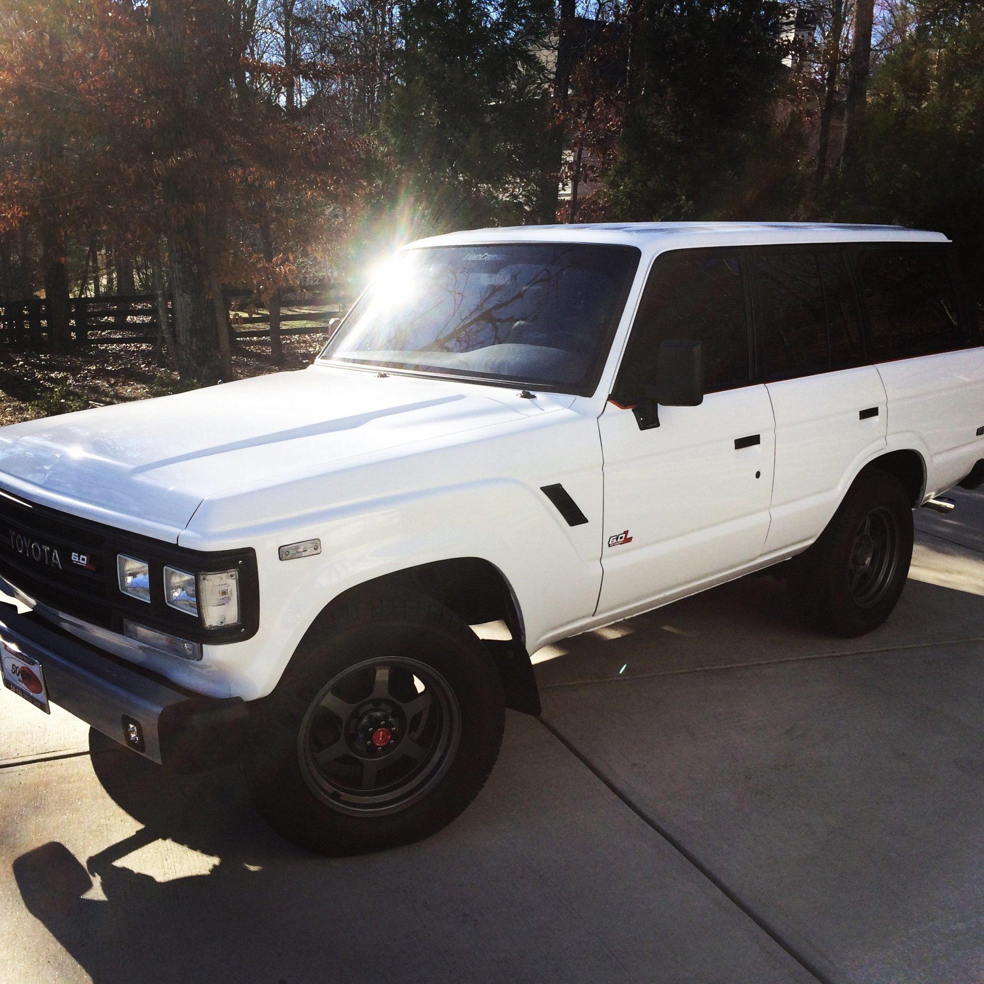 For Sale - 1989 FJ62 White over Black - LS Swap, New Paint, New ...