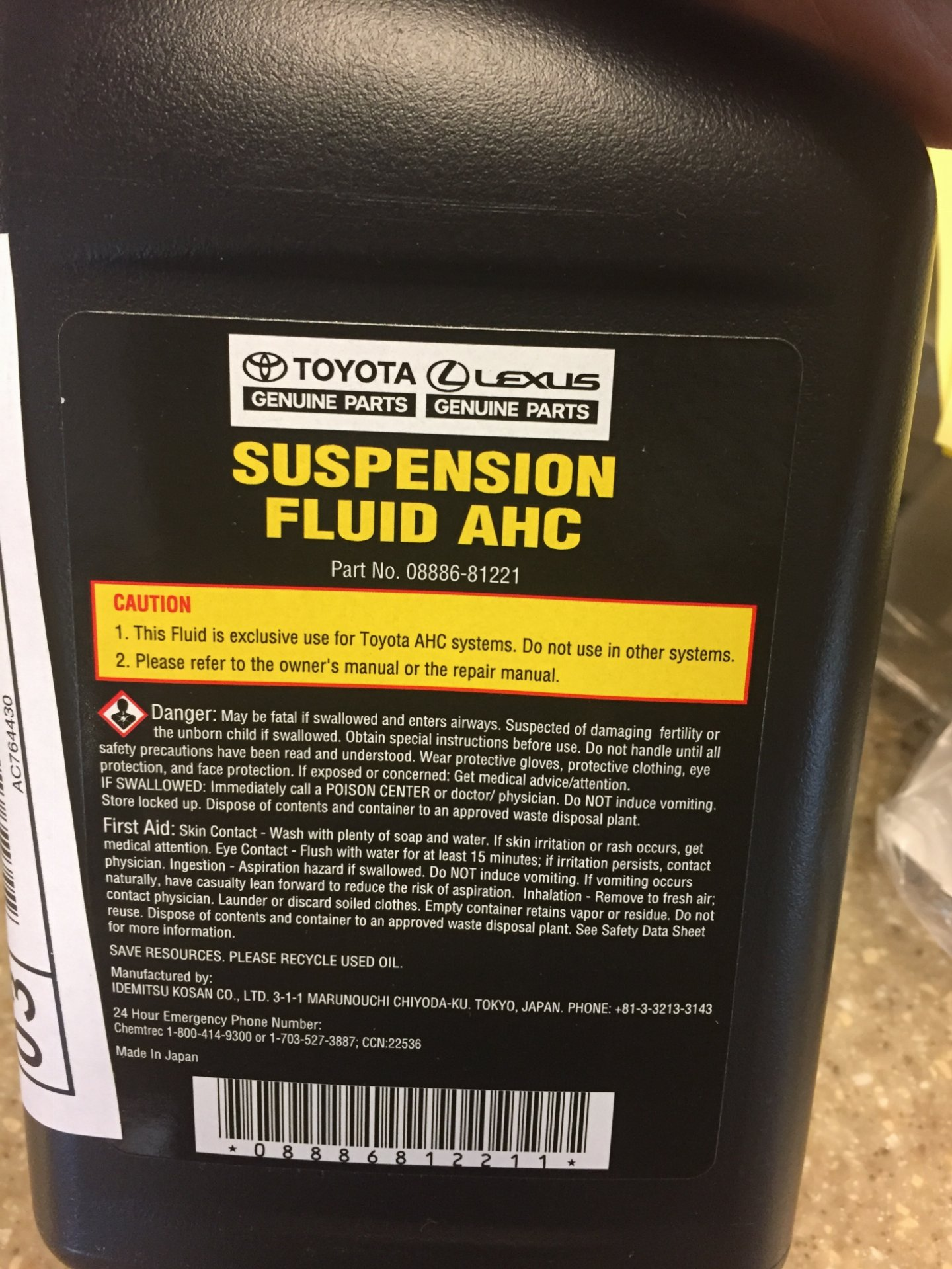 AHC fluid out of stock nationally, any ideas where else to