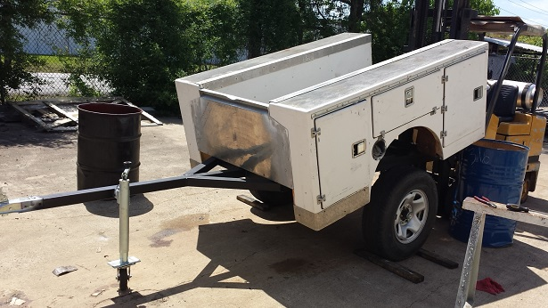 for sale fiberglass mini truck service bed trailer for