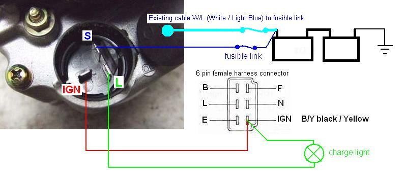 denso alternator wiring harness wiring diagram portal u2022 rh graphiko co Denso Alternator Voltage Regulator nippon denso alternator wiring diagram
