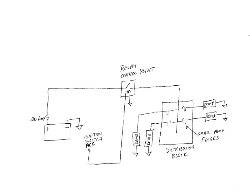 Adding 12v Outlets   Check My Wiring Diagram