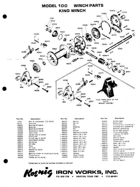 ramsey winch parts breakdown